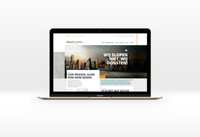 website New Horizon ontwerp